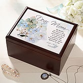 Personalized Wood Jewelry Box With Dear Mom Design - 3622