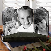 Personalized Triple Photo Table Top Folding Plaque - 3626