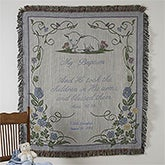 Personalized Baptism Keepsake Afghan Throw - 3642