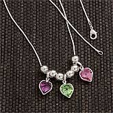 My Kids Heart Birthstone Pendant Necklace