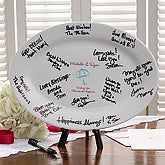 Personalized Signature Platter - Showers of Happiness Design - 3693