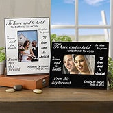 Personalized Wedding Picture Frames - Black and White Designs - 3718