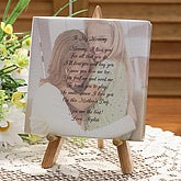Photo Canvas Art with Poem for Her - Table Top Size - 3742