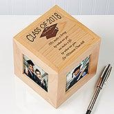 Engraved Graduation Photo Cube Frame - 3776