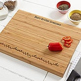 Personalized Bamboo Cutting Board - Grilled To Perfection - 3785
