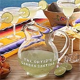 Personalized Margarita Pitcher and Margarita Glass Set - 3790