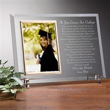 Custom Glass Graduation Picture Frame - As you Leave For College Style - 3816