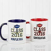 Custom Graduation Ceramic Coffee Mug - Cheers to the Graduate Style