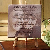 Custom Photo with Poem Canvas - Graduation Poem - 3844