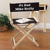 Personalized Director Style Chair - Black - 3870