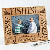 Personalized Fishing Custom Wood Picture Frame - 3875