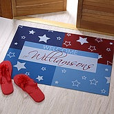 Personalized All American Fourth of July Doormat - 3884