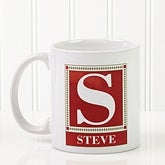 Personalized Monogram Coffee Mugs - Letter Perfect - 3899