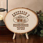 Custom Personalized Basswood Tree Plaque - Old Time Tavern - 3903