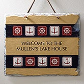 Personalized Nautical Slate Sign - Sailing Theme - 3909