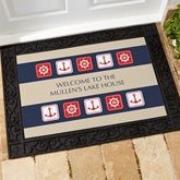 Personalized Nautical Doormat - Sailing Theme - 3910