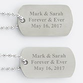 Personalized Keepsake Dog Tag Set - 3927