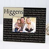 Personalized Family Name Custom Picture Frame - Laminate Finish - 3933