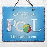 Custom Personalized Pool Sign - Welcome to Our Pool - 3977