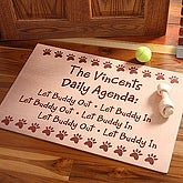 Daily Agenda© Personalized Pet Doormat