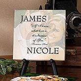 Personalized Photo Canvas Art - Because of You Design - 3989
