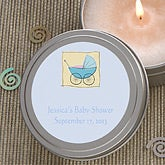 Baby Shower© Personalized Candle Favors