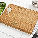 Personalized Engraved Family Name Bamboo Cutting Board - 4027