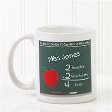Personalized Teacher Chalkboard Ceramic Coffee Mug - 4040