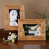 Engraved Wood Wedding Photo Frames - To Have and To Hold - 4047