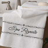 Custom Personalized Fleur de Lis Bath Towel - 4080