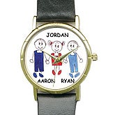 Personalized Quartz Watch With Family Characters - 4104D