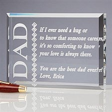 Personalized Dad Sculpture Gift - Father Like No Other Design - 4105