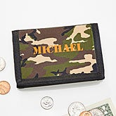 Kids Camouflage Tri-fold Wallet for Boys - 4146