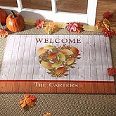 Personalized Autumn Heart Welcome Door Mat - 4166