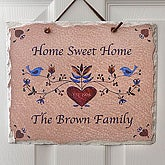 Home Sweet Home Personalized Slate Wall Sign - 4181