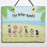 Personalized Beach Vacation Slate Wall Plaque - 4187