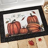 Personalized Autumn Pumpkin Welcome Door Mat - 4190
