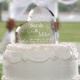From This Day Forward Personalized Cake Topper
