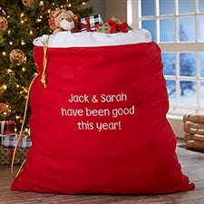Personalized Santa Toy Sack - 4200
