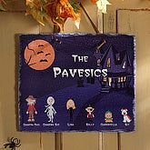Personalized Slate Plaque - Halloween Character Collection Decor - 4206
