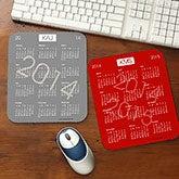 Custom Monogram Calendar Mouse Pad - 4213
