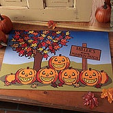 Personalized Pumpkin Patch Halloween Door Mat - 4225