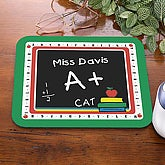 Personalized Teacher Mouse Pad - Chalkboard Design - 4238