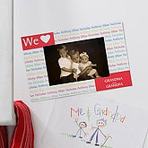 Magnet Personalized Picture Frame - Our Loving Hearts - 4265