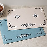 Personalized Pet Food Place Mat - Le Cuisine - 4293