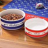 Personalized Ceramic Pet Bowls - Kitty Kitchen - 4299