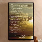Personalized Sunset Memorial Canvas Art Print - 4305
