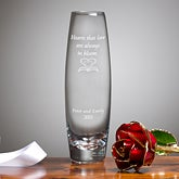 24K Forever Rose and Engraved Vase