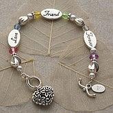 Love, Friend, Forever Personalized Bracelet