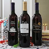 Personalized Birthday Wine Bottles - Birthday Balloons